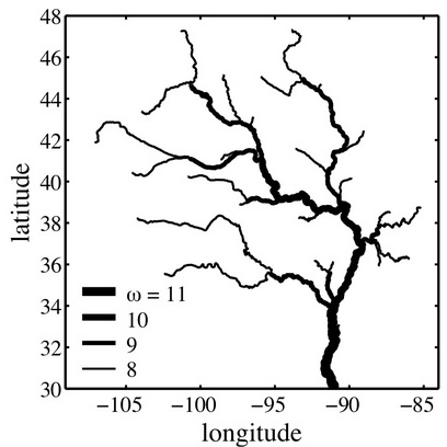 4. Geometry of river networks. II. Distributions of component size and number