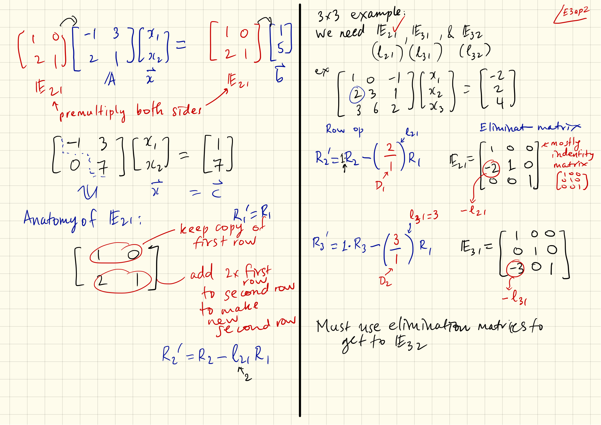 Note Set 03a: The way of the Elimination Matrix | Matrixology